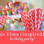 an elmo-ish birthday celebration