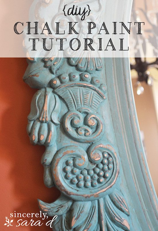 Chalk Painting Tutorial Painting A Mirror Sincerely Sara D