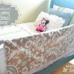 (the almost) no sew bed rail cover