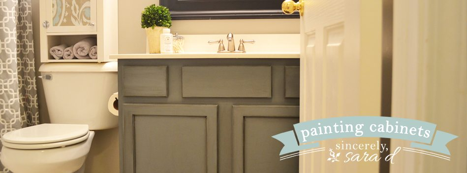Painting Bathroom Cabinet painting cabinets with chalk paint | sincerely, sara d.