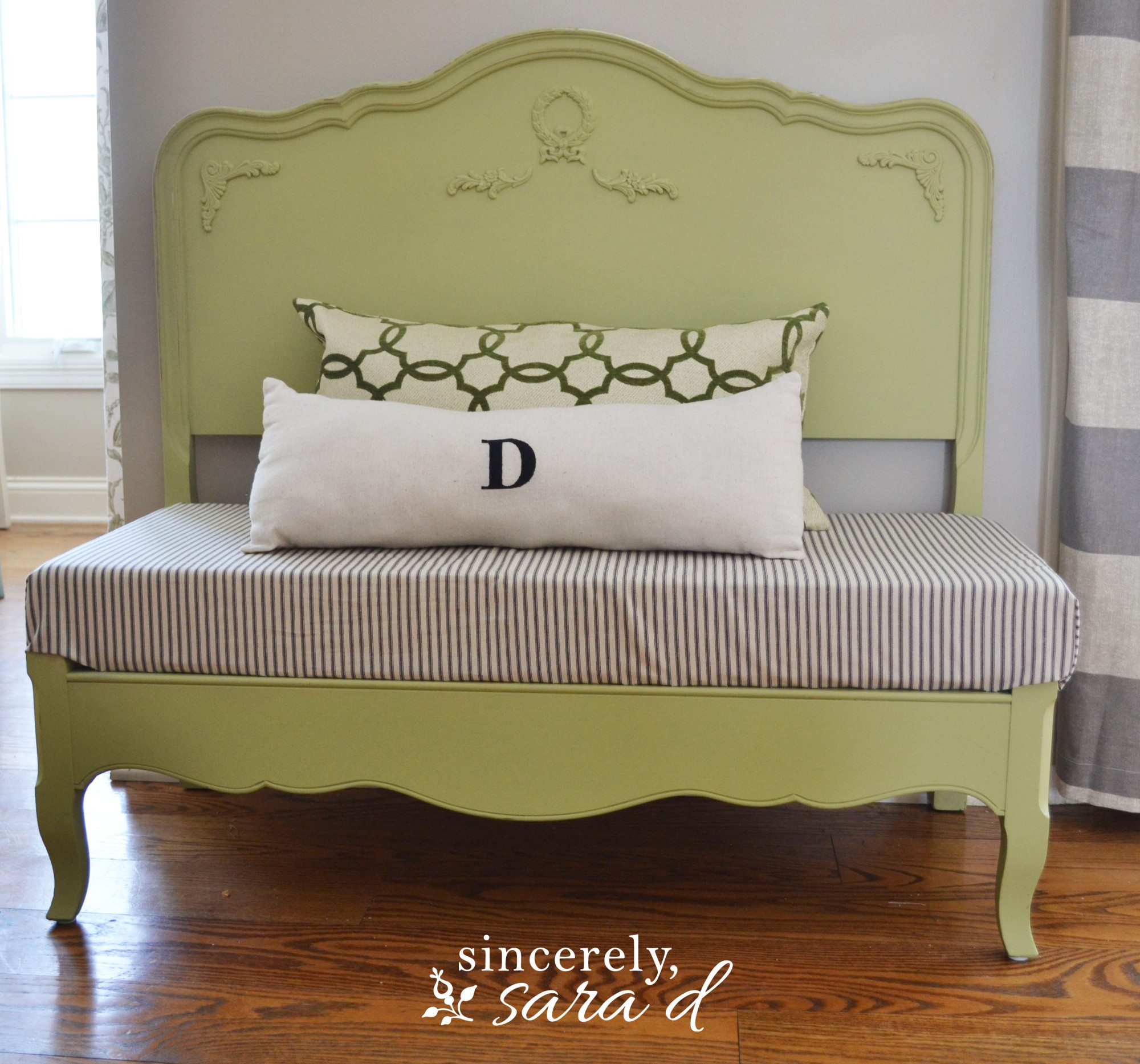 Turn A Headboard Into A Bench Sincerely Sara D
