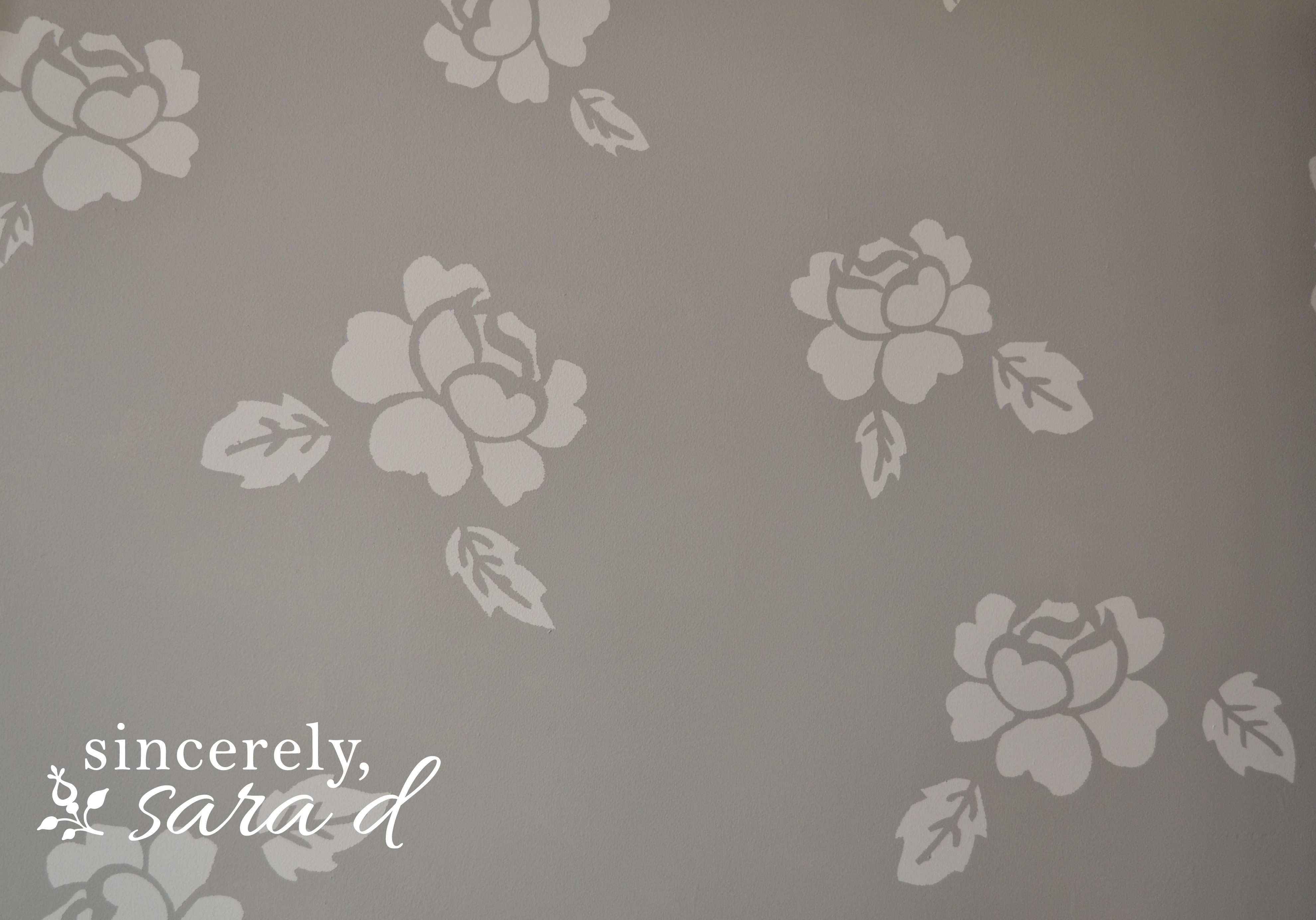 DIY {faux} Wallpaper – a painted wall treatment