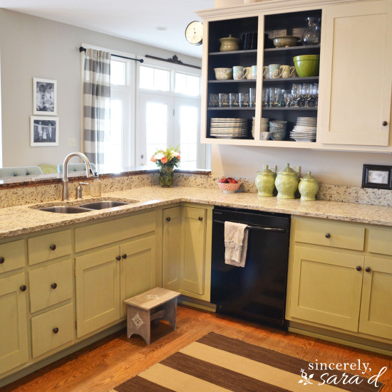 chalk paint for kitchen cabinets. And here s how the cabinets looked when we first moved into our home  sorry it not same angle kitchenBEFORE The chalk paint Why I Repainted my Chalk Painted Cabinets Sincerely Sara D