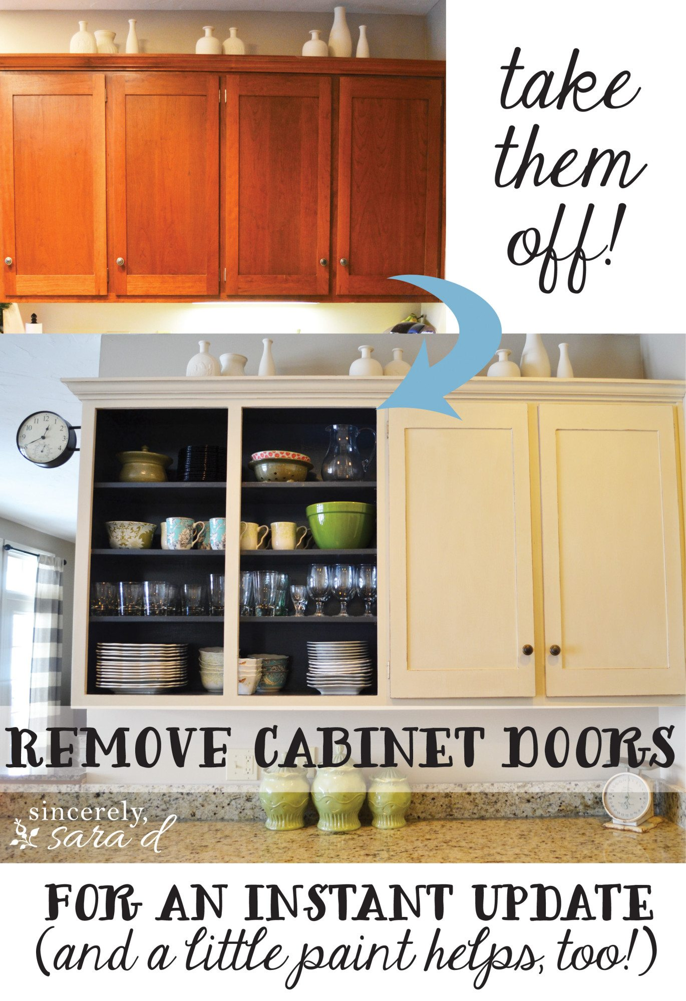 Instant Kitchen Cabinets : Remove cabinet doors instant kitchen update sincerely