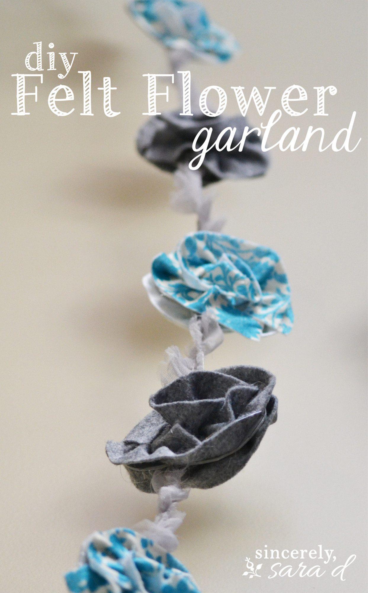 DIY Felt Flower garland