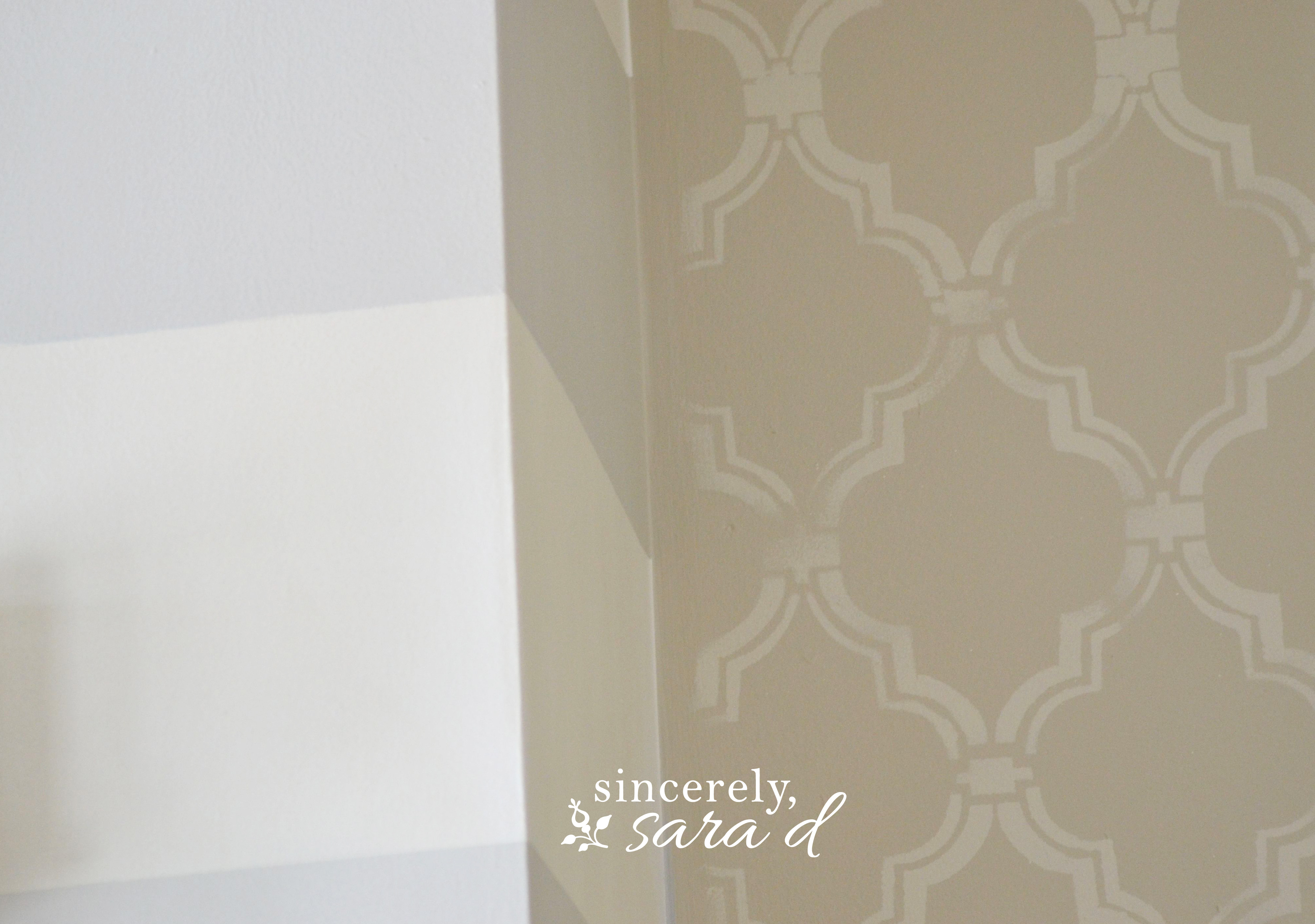Painted Wall Treatment: Mixing Patterns