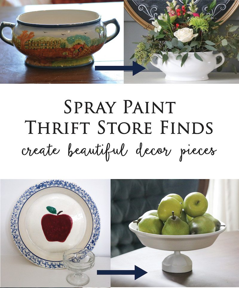 22 Foods You Can Regrow Again And Again From Kitchen: Spray Paint Thrift Store Dishes