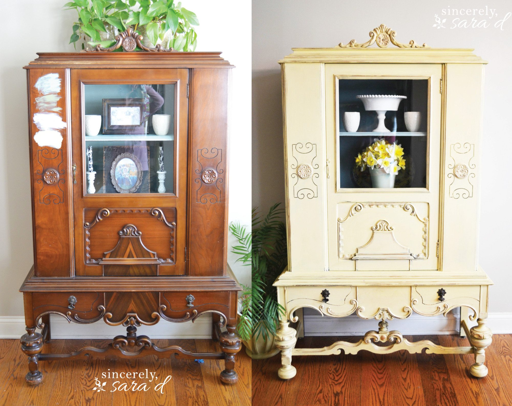 Yellow Painted Hutch