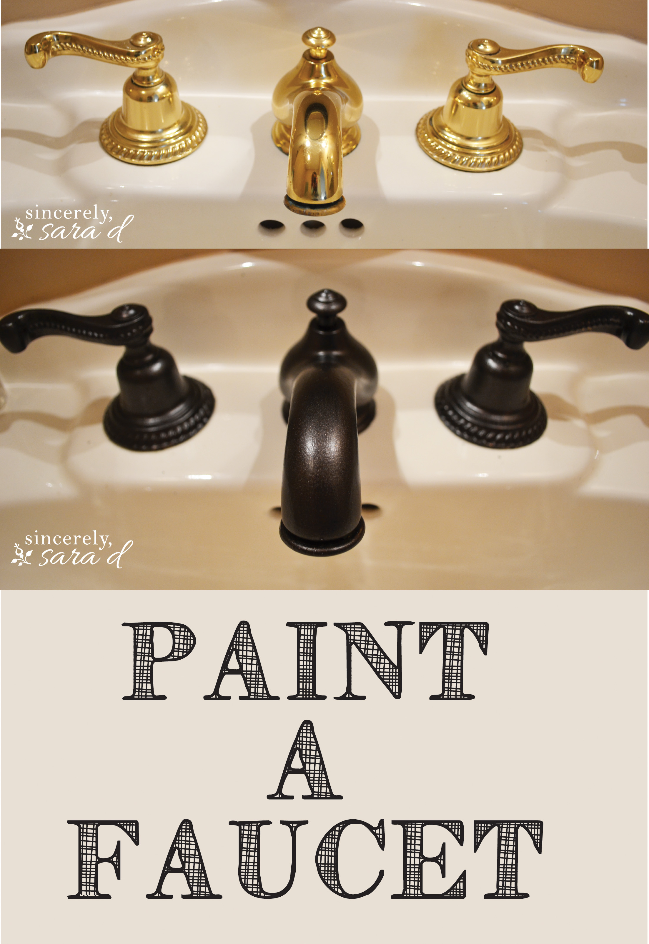 How To Paint A Faucet Sincerely Sara D - Refinish bathroom faucets