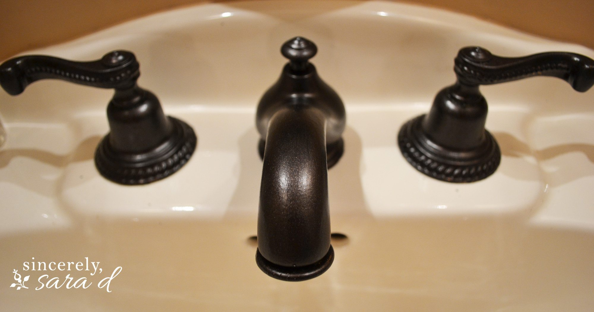 How to Paint a Faucet   Sincerely, Sara D.