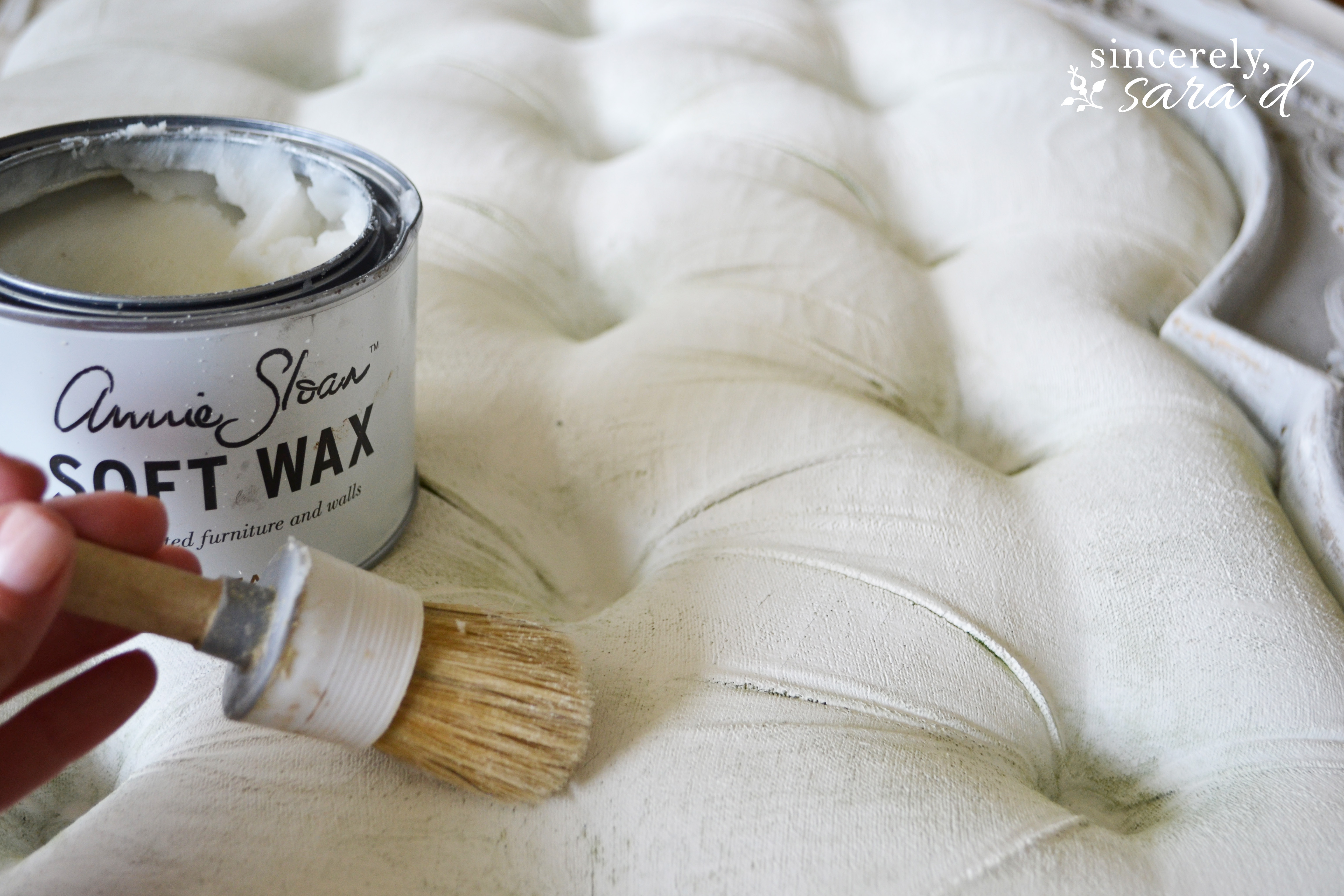 Tutorial For Using Chalk Paint On Fabric Sincerely Sara D