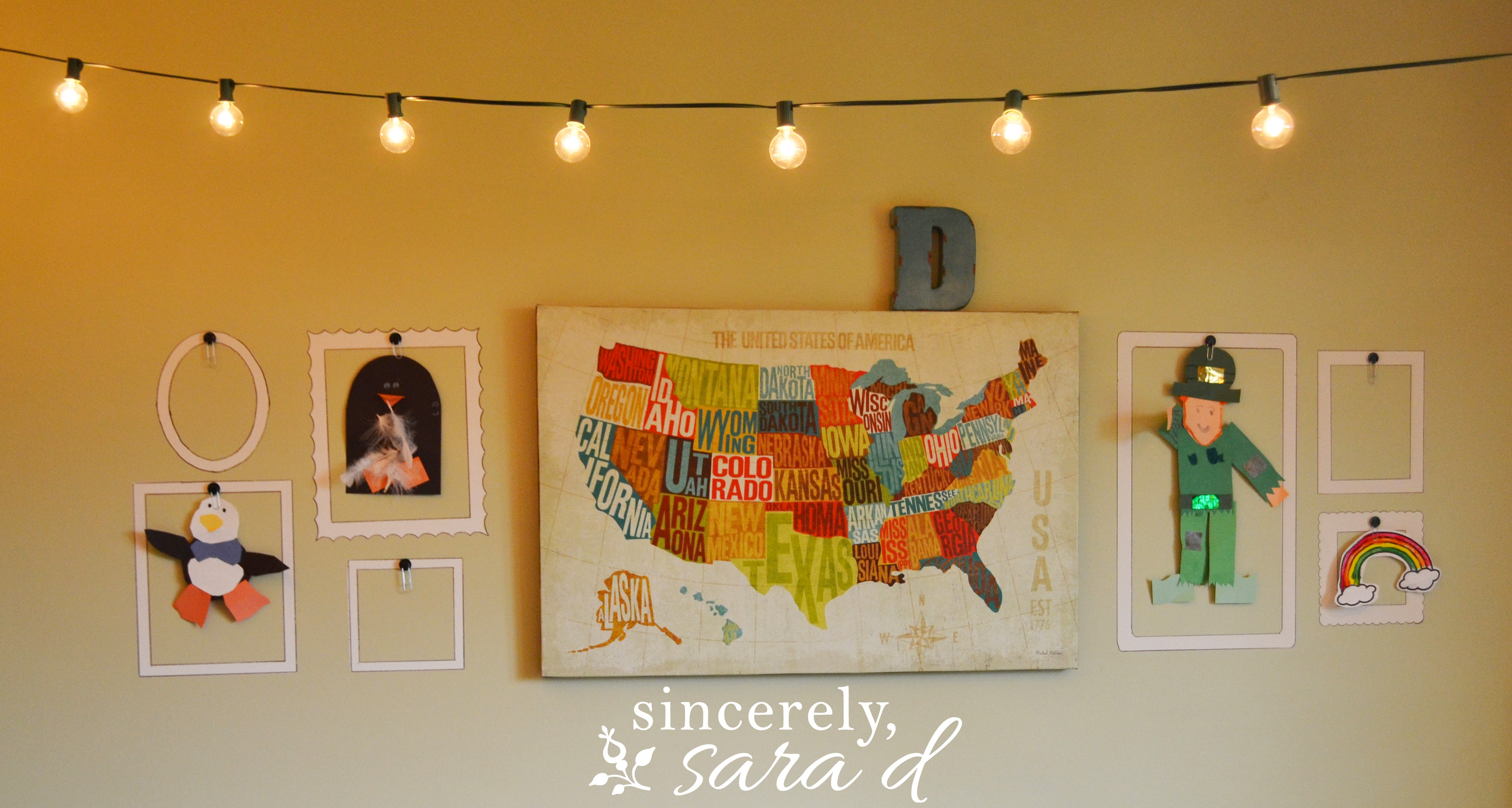 Fun Playroom Ideas And Reveal Sincerely Sara D - Hobby lobby us map