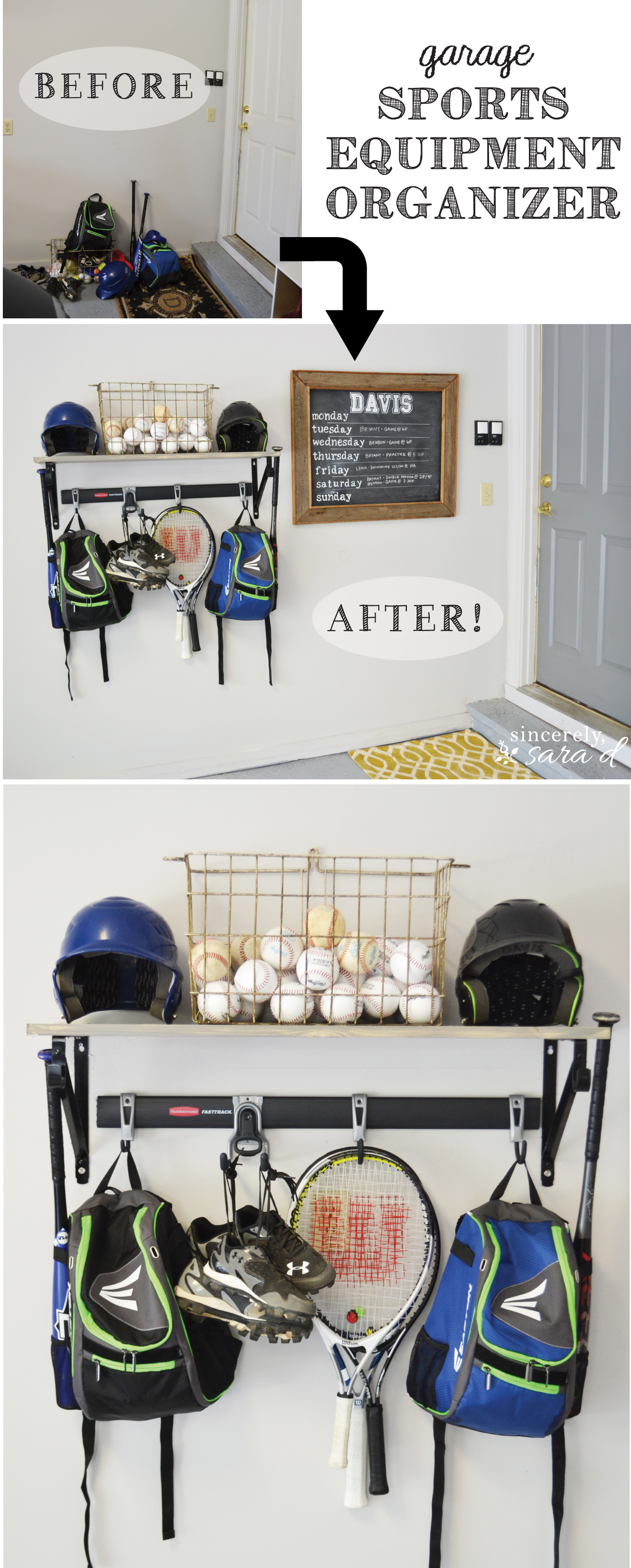 See How We Organized Our Sports Equipment In Our Garage!