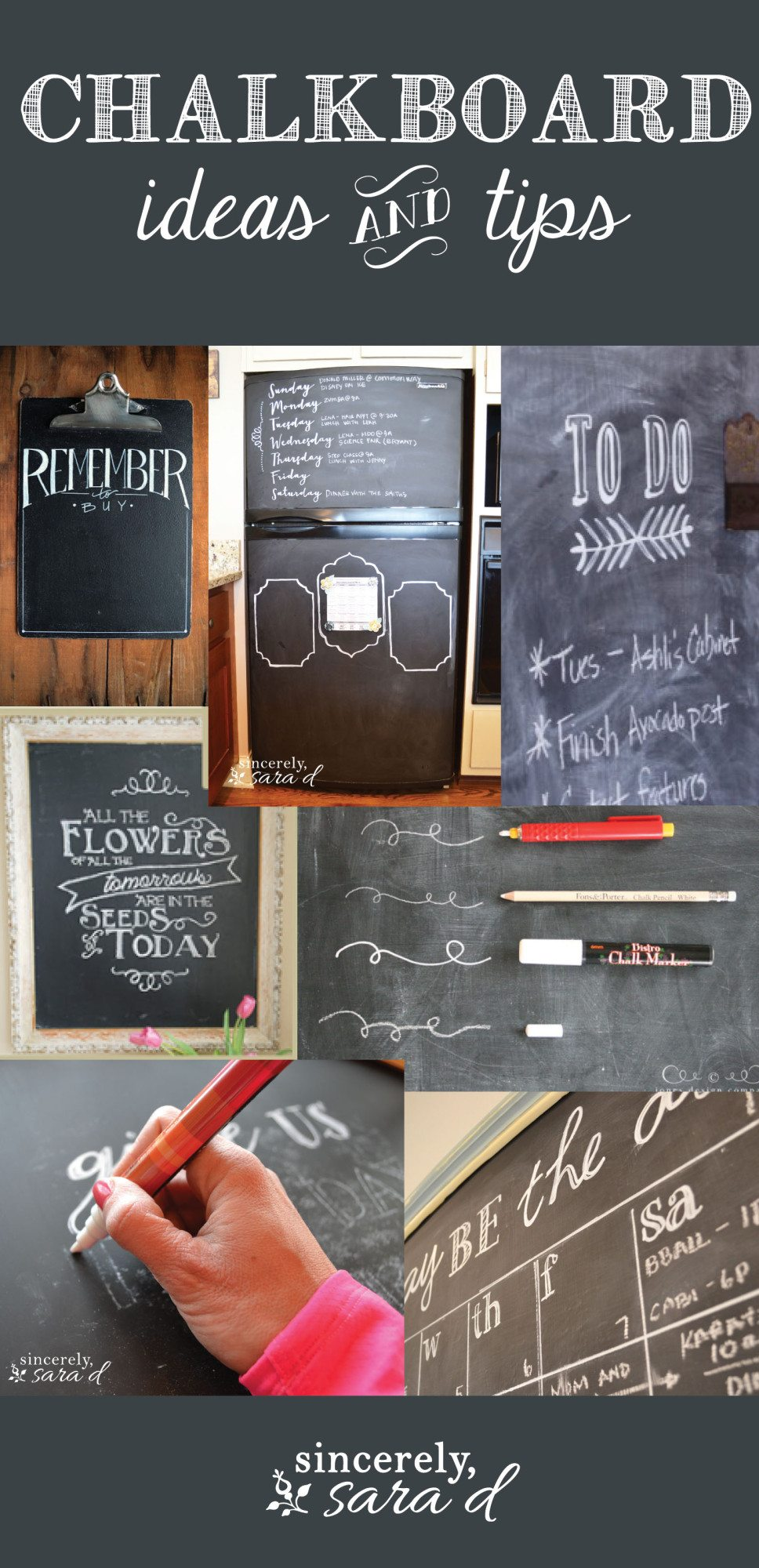 Chalkboard Ideas and Tips
