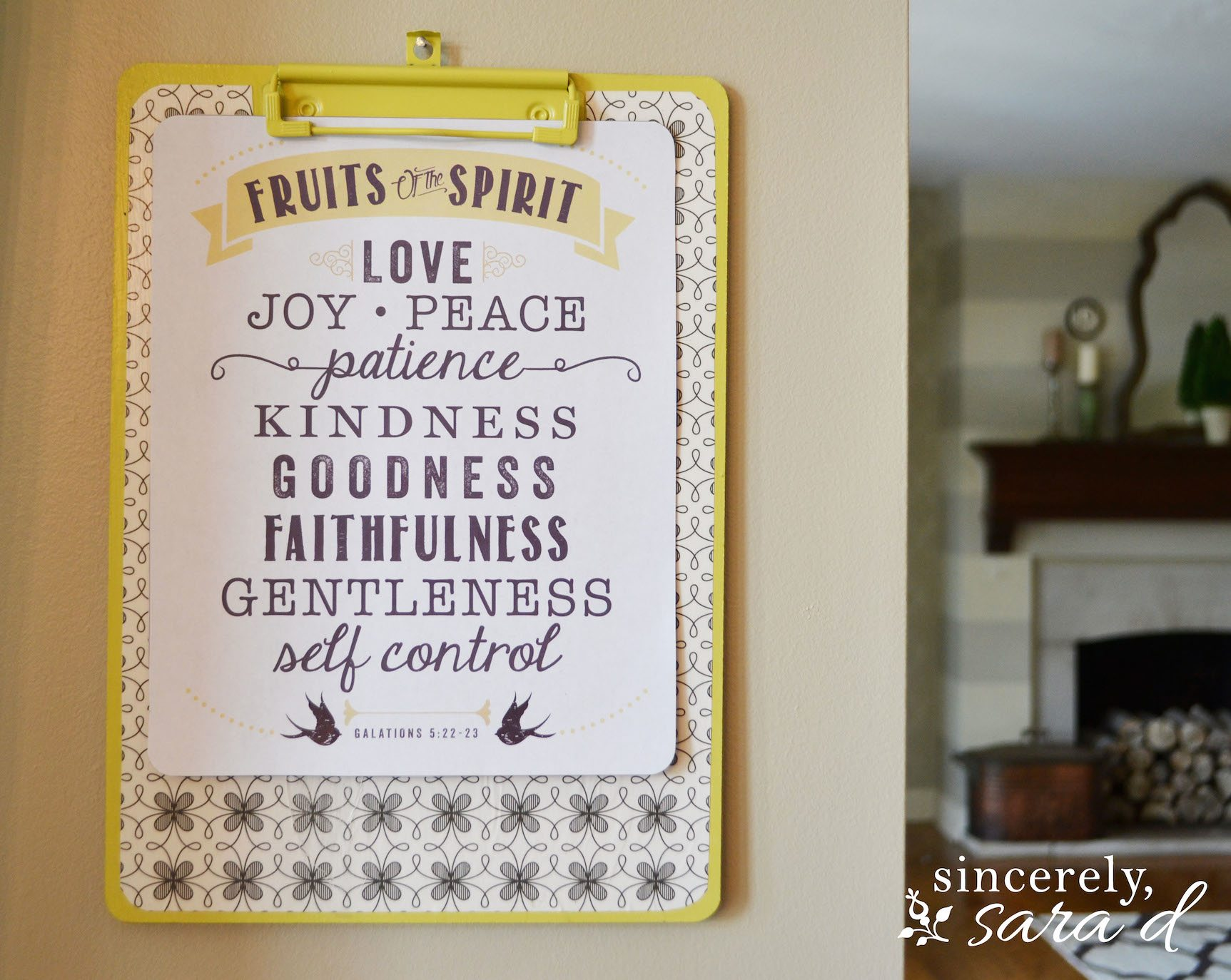 Free Printable Fruit of the Spirit