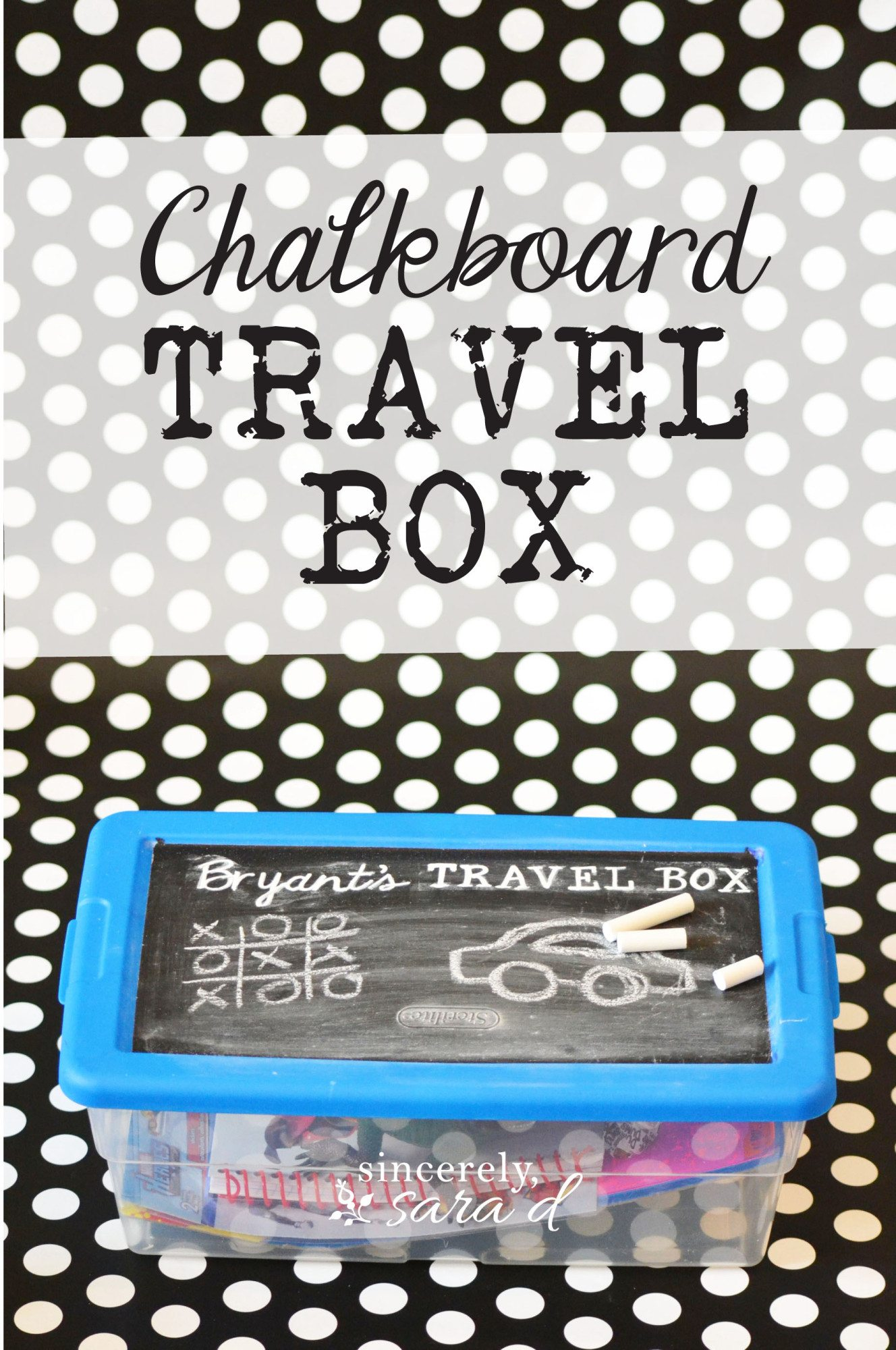 Kids Chalkboard Travel Box