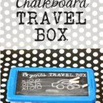 Kid's Chalkboard Travel Box