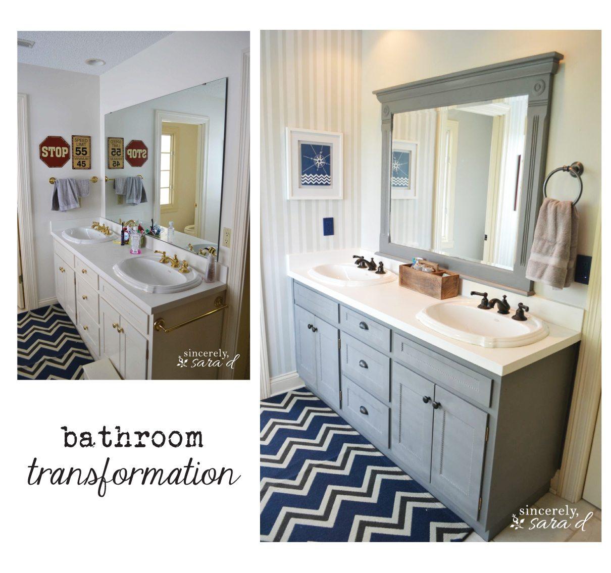 My Boys\' Bathroom Transformation | Sincerely, Sara D.