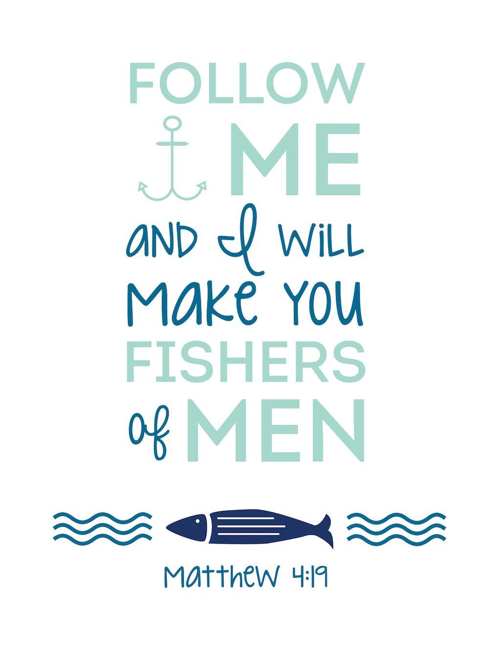 Free Bible Printable – Matthew 4:19