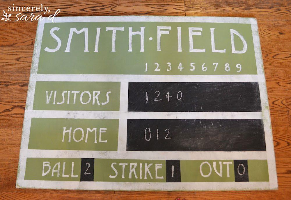 Vintage Scoreboard 15