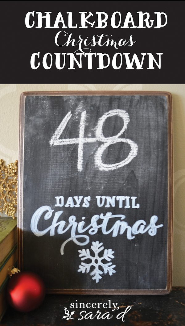 DIY Chalkboard Christmas Countdown