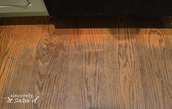 Painted Rug On Wood Floor Sincerely Sara D
