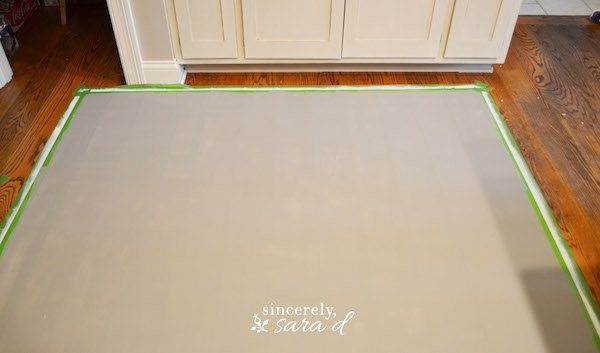 Painting Wood Floor Rug