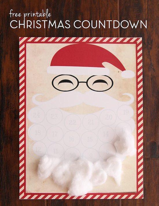 Free Printable Christmas Countdown