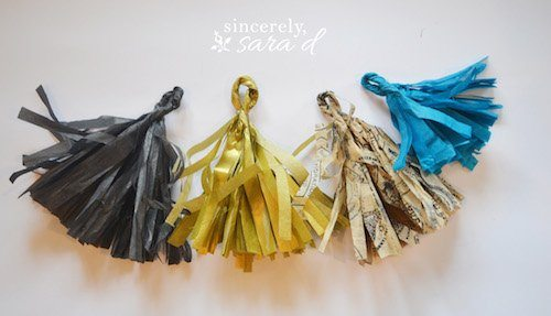How to make party tissue tassels