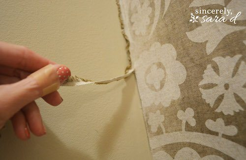 Starched Fabric Wall - Cleaning up edges