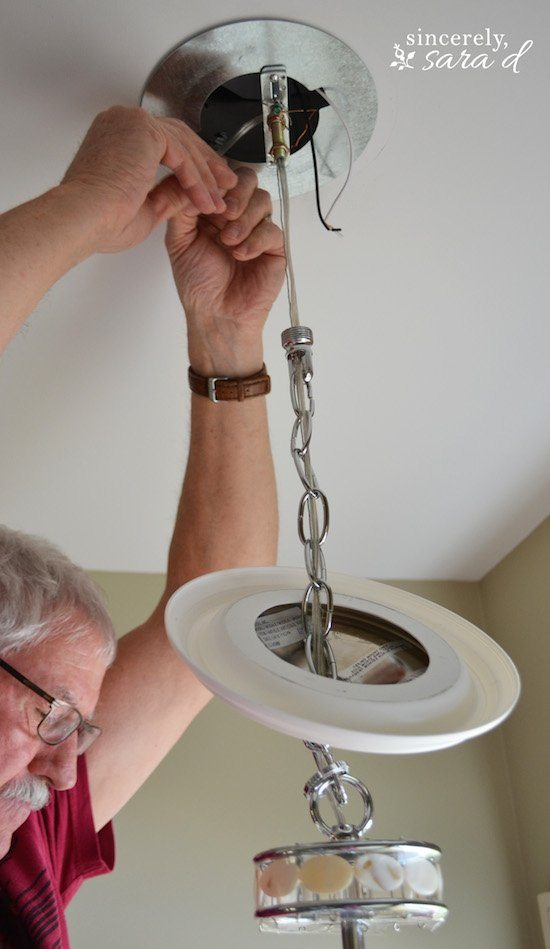 updating a recessed light