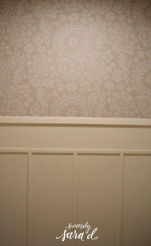 Bathroom Fabric Starched Wall