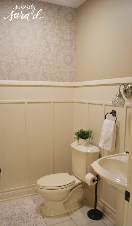 Bathroom wall paneling sincerely sara d for Wood panelling bathroom ideas