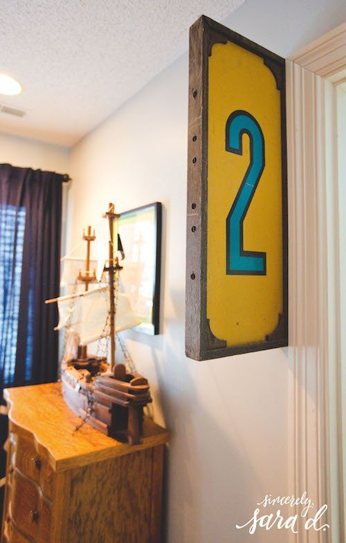 Boys' Room - Number Sign