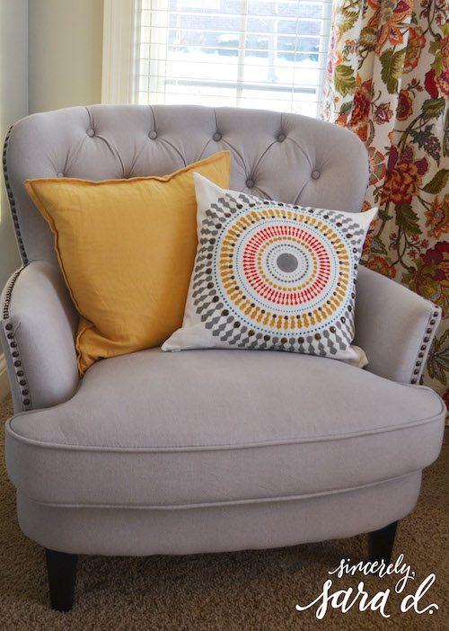 Colorful paint a pillow