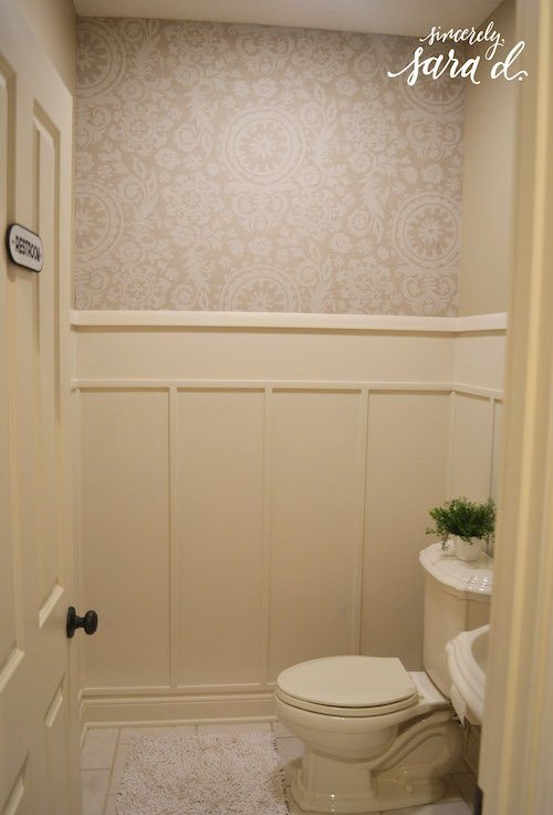 bathroom wall paneling sincerely sara d. Black Bedroom Furniture Sets. Home Design Ideas