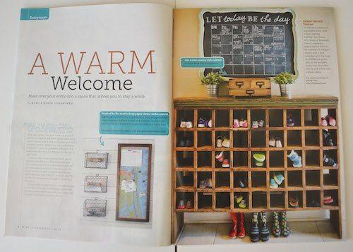 Make It Organized Magazine Mudroom