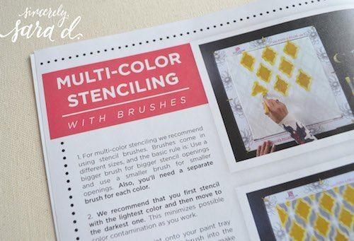 Multi Color Stencil Instructions
