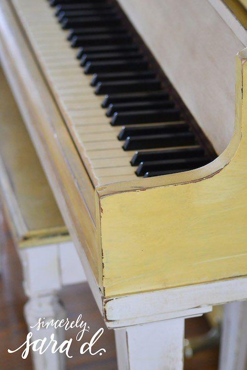 Painted Yellow Piano