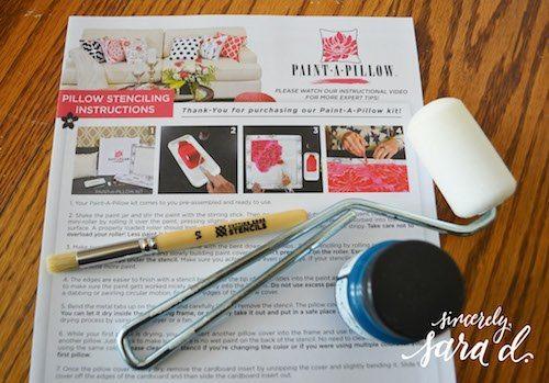 paint a pillow instructions