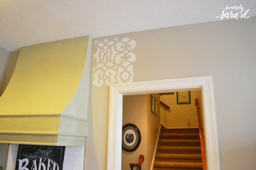 Kitchen Stenciled Wall