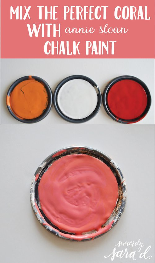 Mixing the Perfect Coral with Chalk Paint | Sincerely, Sara D.