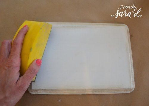 Sanding Chalk Paint
