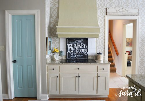 Stenciled Kitchen Hood