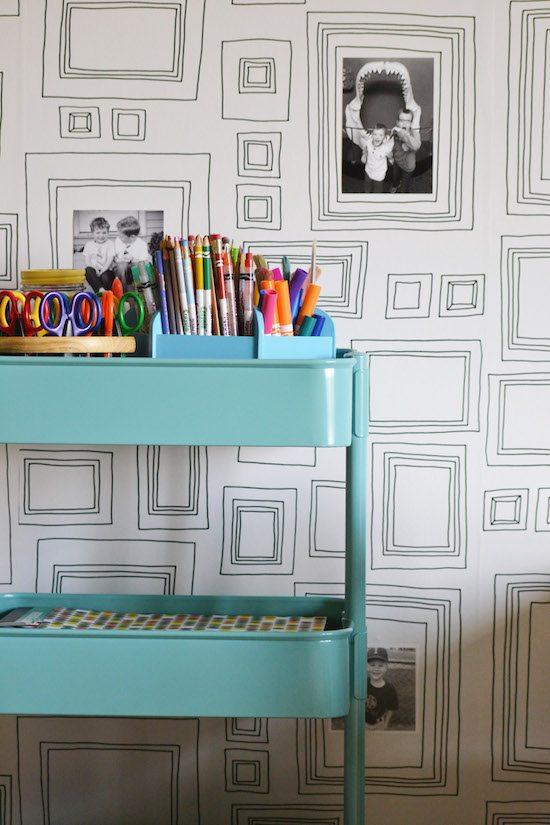 Art Cart and wallpaper