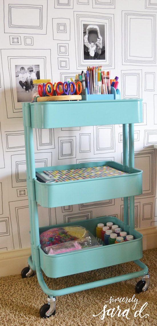 Art Cart with Frame Wallpaper