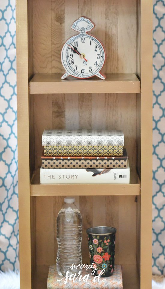 DIY Gold Nightstand