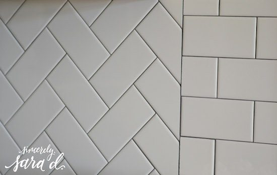 Glossy Subway Tile Backsplash