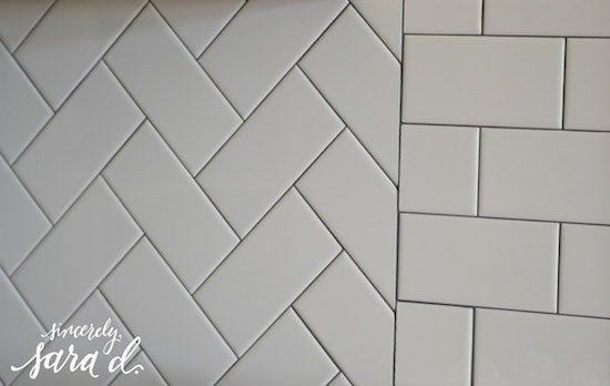 Glossy Subway Tile Backsplash