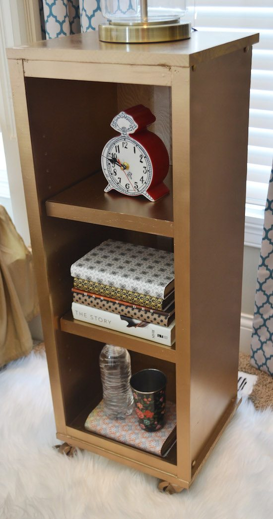 Gold Painted Nightstand